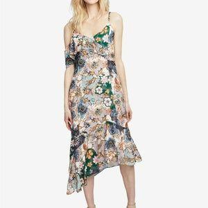 Rachel Roy July Floral Blush Ruffled Midi Dress
